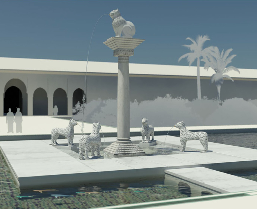 Agdal. Dar al-Hana⁠ʾ. Palace of al-Mansur. Virtual reconstruction DETALLE
