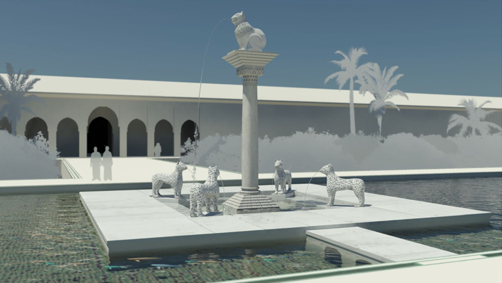 Agdal. Dar al-Hana⁠ʾ. Palace of al-Mansur. Virtual reconstruction
